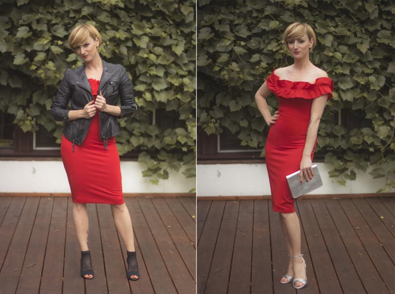 zara sukienka czerwona 2017