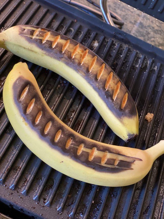 przepisy banany z grilla