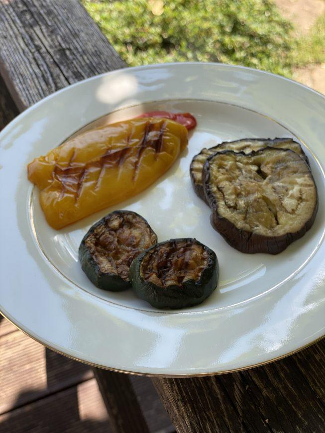 grillowana cukinia papryka i bakłażan